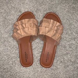 Brown Ruffle Sandals
